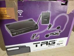 Microfone Sem Fio Tag Sound Tm559hsl Wireless