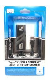Título do anúncio: Cabo Adaptador Externo USB3.0 Para Rede Usb Rj45 10/100/1000mbps Ethernet Novo na Caixa