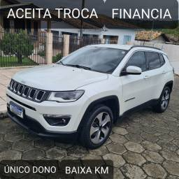 Título do anúncio: JEEP COMPASS LONGITUDE FLEX 2018 Baixa KM Unico Dono + Aceito Troca
