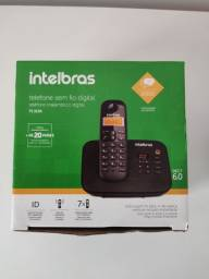 Título do anúncio: Telefone sem fio Intelbras com secretária eletrônica