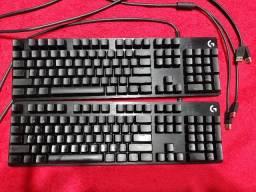 2 teclados Mecânicos Logitech G512 Us Swith Blue