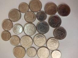Centavos antigos variados coleção
