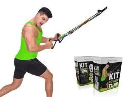 Kit Elástico De Tensão Power Tube Exercícios Academia Fit - Mbfit