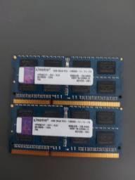 Título do anúncio: Memoria Kingston 4gb DDR3 Pc3 Notebook