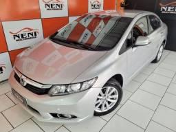 Título do anúncio: Civic LXR Automático 2014 placa i confira!