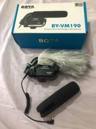 Microfone Direcional C/ Condensador Boya - By-vm190 Câmera