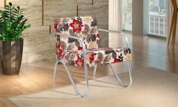 Cadeira poltrona decorativa diamante B442
