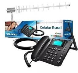 Kit Celular Rural Ca900 Aquário Telefone + Cabo + Antena [entrega grátis]