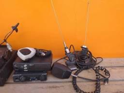 Vende-se/Troco 3 Rádio VHF Canal Fechado + Fonte de alimentação. LEIA A DESCRIÇÃO