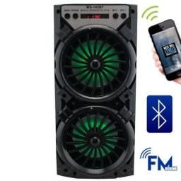 Caixa de Som Portátil Mp3, Mp4 Led Bluetooth 10w Rádio Fm Usb Cartão Tf