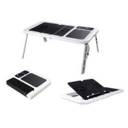 Mesa Para Notebook Ld09 Portatil Dobravel 2 Coolers Nb 202 Branca