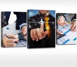 Quadro Escritório Administrativo Contábil, Contabilidade, Contador, Administração.