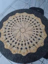 Pano de mesa de crochê