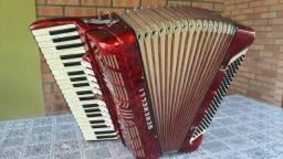 Acordeon Serenelli/Giulietti 4a e oitavada, 120 baixos, original