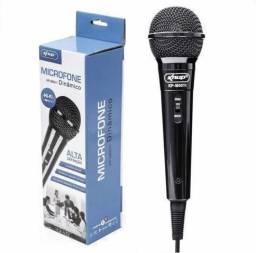 Microfone Knup Kp-m0011 Com Fio Para Karaokê Palestras Novo
