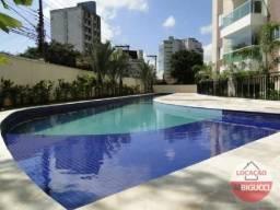 Apartamento com 3 dormitórios para alugar, 130 m² por R$ 2.990,00/mês - Jardim do Mar - Sã