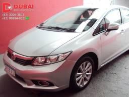 2014 - Honda Civic LXR 2.0 Flex (Aut.) (Couro) - Prata - Periciado - 2014