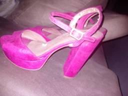 Sandália sonho dos pés rosa camurça