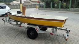 Barco Fibra Fundo Duplo Preparado Para Vela e Motor