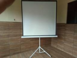 tela projeção tripé SUMAY ideal para palestras, filmes é etc...