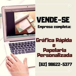 Vende-se Gráfica rápida e papelaria personalizada