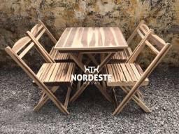 Mesa e cadeiras para bar