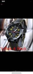 Relógio De Pulso Analógico De Quartzo Impermeável Em Aço Inoxidável   Waterproof