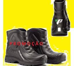 Título do anúncio: Bota Coturno Chuva Impermeável Moto Motoqueiro - Pantaneiro