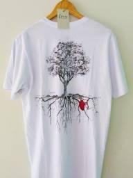 Camiseta Amazônia Árvore Coração da Natureza