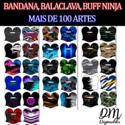 Pacote Molde Digital + 100 Estampas Prontas Balaclava Buff Bandana