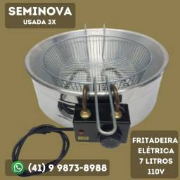 Título do anúncio: Fritadeira Elétrica 7 Litros 110v Seminova