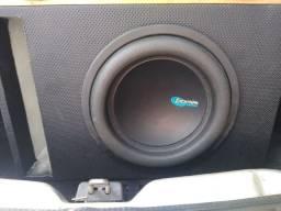 Subwofer,  auto falante 12 protech 850 RMS e módulo sundigital 1200 um canal