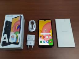Samsung Galaxy A01 - 32gb  Dual - 2gb Ram Chip  Câmera 8MP + Selfie 5MP - Preto