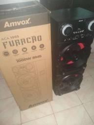 Título do anúncio:  Caixa amvox furacão aca 1003, potência 1.000 RMS