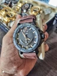 Relógio naviforce pulseira de couro original
