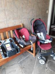 Título do anúncio: Carrinho de bebê Chicco Travel system com bebê conforto