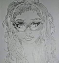 Desenho de um rosto