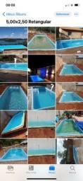 *piscina de fibra 5,00x2,50 promoção