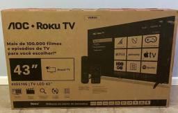 Smart TV Aoc Roku LED 43'' 43S5195/78 com Wi-fi, FullHD, Entradas HDMI e USB