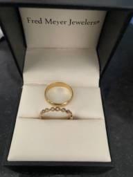 Título do anúncio: Anel de noivado + meia aliança