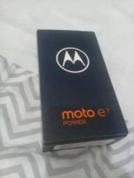 Título do anúncio: Vendo Ou Troco Caixa Moto e7 Power Nova Só Caixa