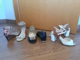 Sandálias variadas nª 38, em bom estado de conservação.