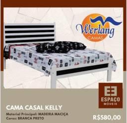 Título do anúncio: Cama Casal em Madeira Maciça Kelly #Entrega e Montagem Grátis
