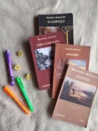 Coleção de livros Clássicos Brasileiros - O cortiço, Dom Casmurro, Iracema e Contos