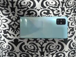 """Título do anúncio: Samsung a71, 128GB, 6GB RAM 6,7"""" Câm. Quádrupla + Selfie 32MP - Azul"""