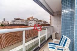 Título do anúncio: Apartamento com 1 dormitório para alugar, 52 m² - Aparecida - Santos/SP