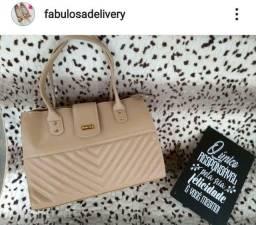 Bolsa em couro Nude