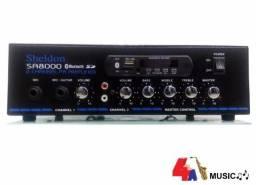 Receiver Sheldon Amplificador Som Ambiente Bluetooth Fm