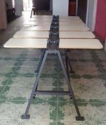 Máquina silk screen mesa 12 bercos completa pronta para uso aceitamos cartões