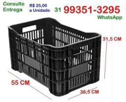 Comercio- Caixa Plástica Agrícola Preta - Hortifrúti- Nova- Consulte Entrega